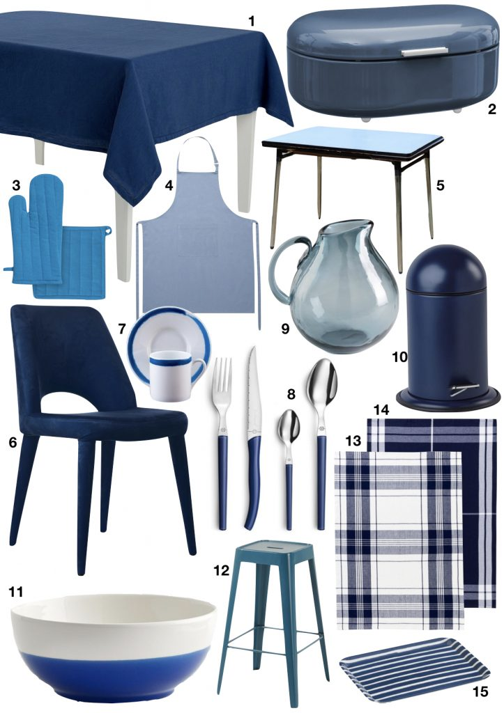 cuisine bleue shopping list - blog déco - clem around the corner