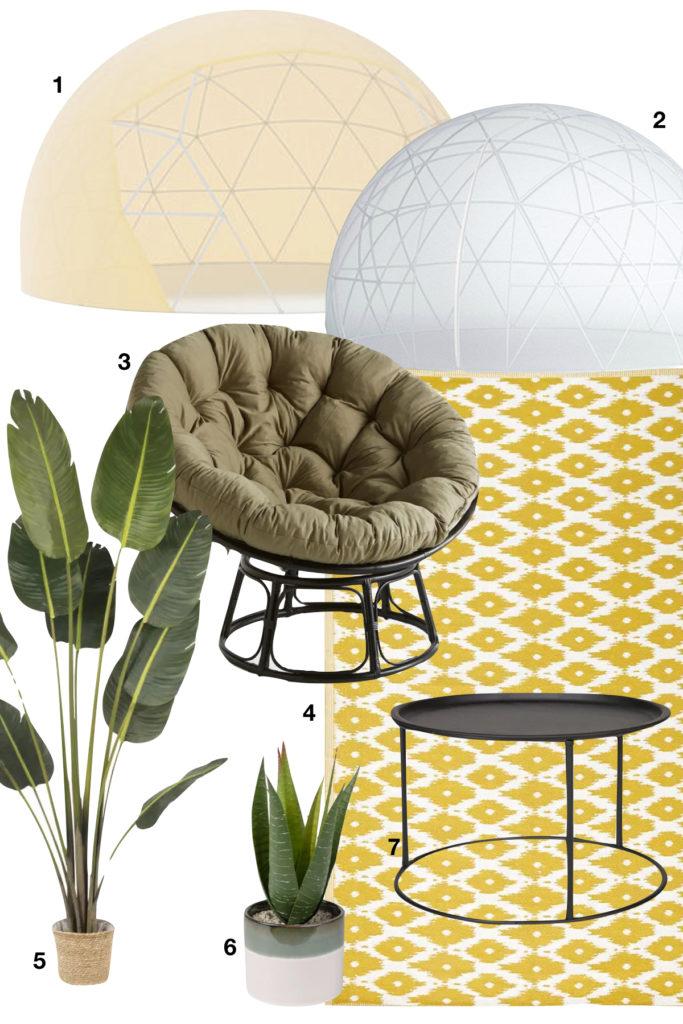 shopping liste bulle de jardin couverture été moustiquaire pouf fauteuil table basse plante - blog déco - clematc