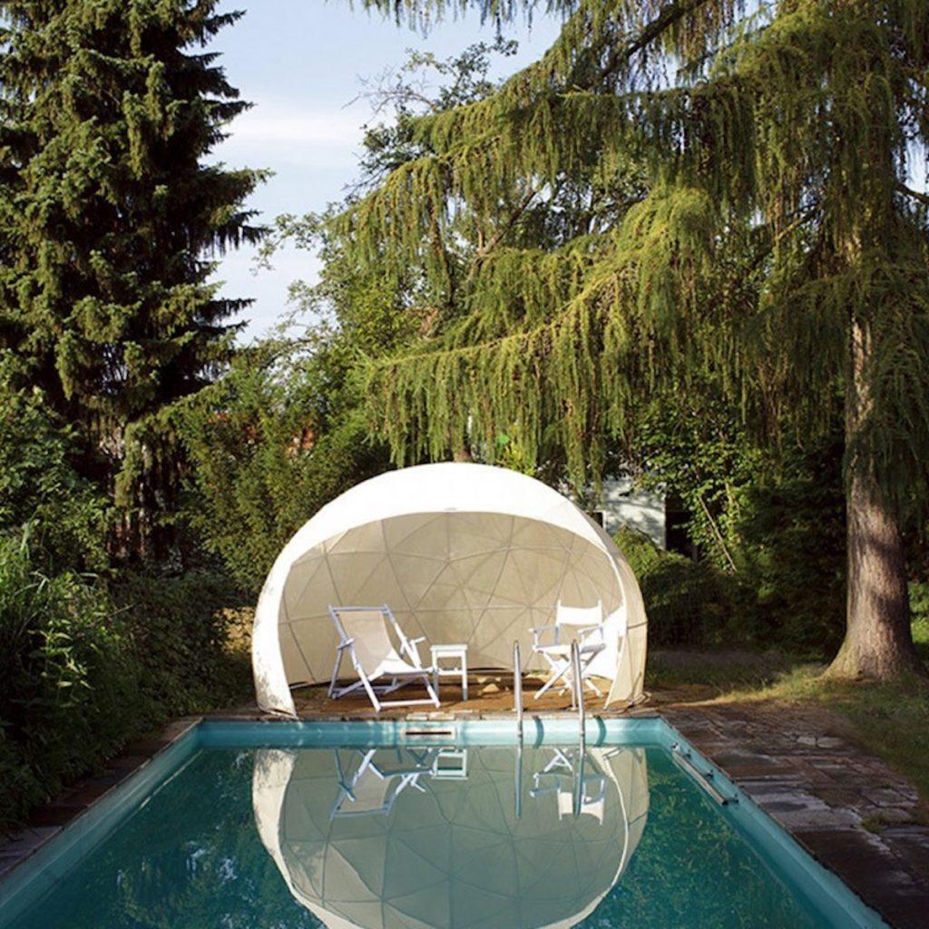 garden igloo couverture été piscine forêt jardin déco - blog clematc