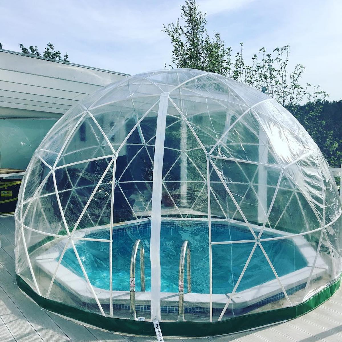 serre protection piscine bulle de jardin terrasse - blog clematc