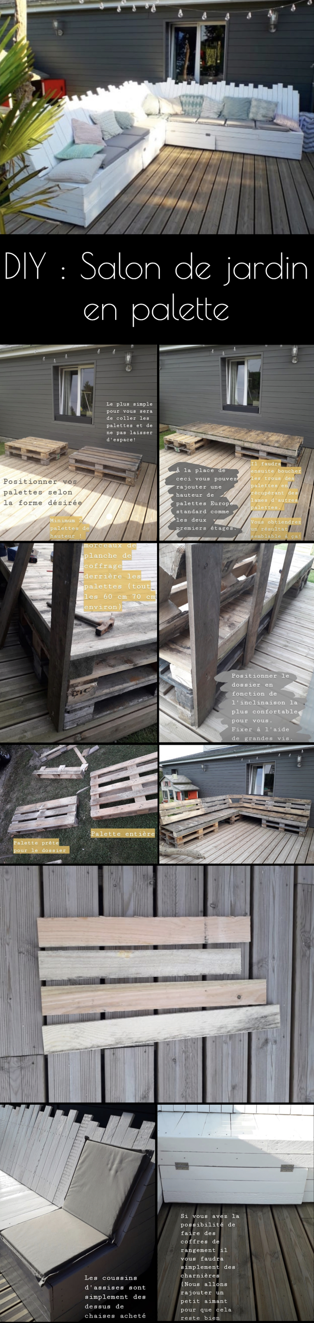 salon de jardin palette diy facile terrasse tendance décoration extérieure - blog déco clematc