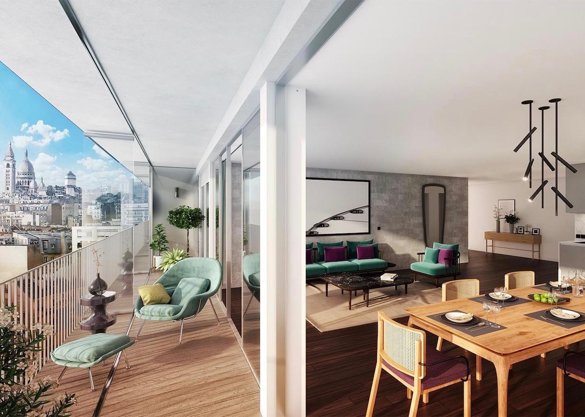 étapes d'une vefa cogedim déroulement terrasse montmartre appartement luxe