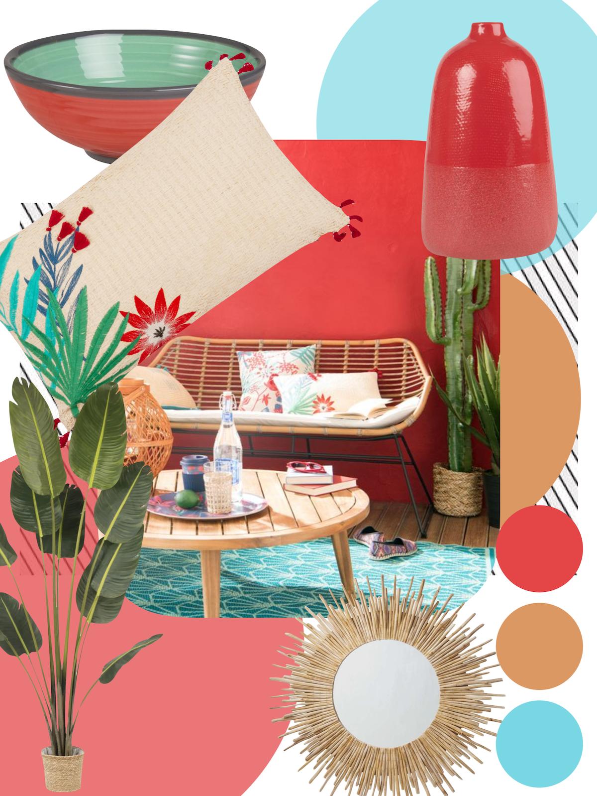 planche déco tendance Maisons du Monde outdoor design salon de jardin - blog déco - clemaroundthecorner