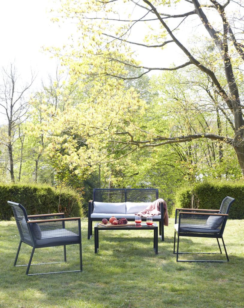salon de jardin chaise fauteuil design noir pas cher nouvelle collection but