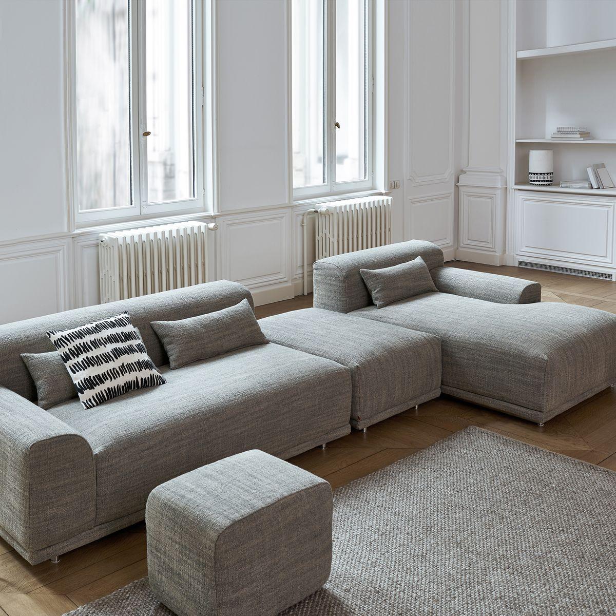 clem around the corner salon canapé gris appartement style parisien