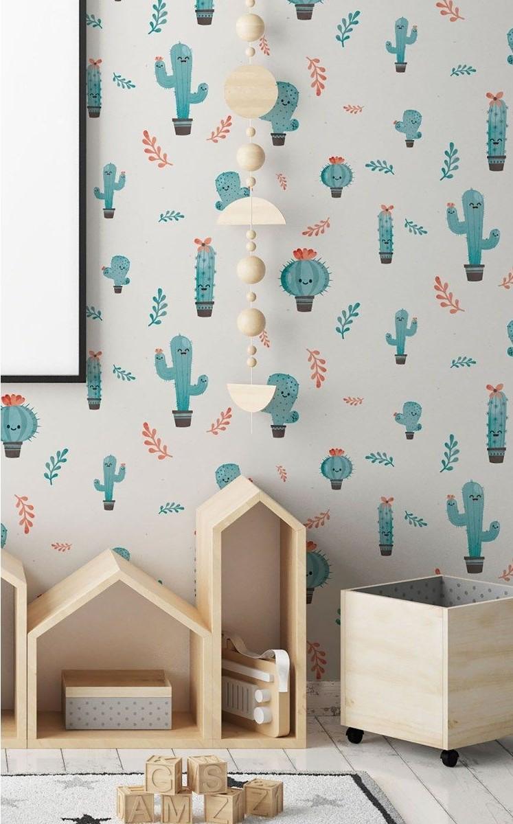 déco cactus papier peint urban jungle chambre enfant