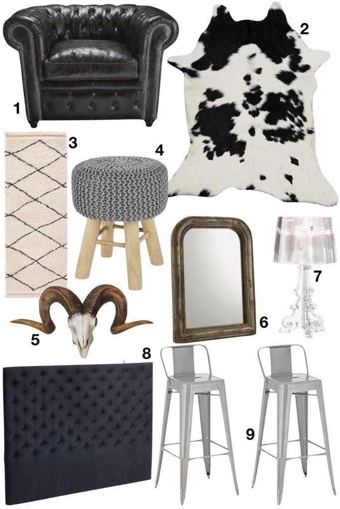appartement noir décoration passe partout idées à retenir objets décoration - blog déco - clem around the corner