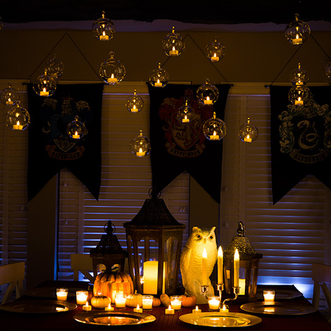 idée originale table pour halloween ou anniversaire fête thème harry potter