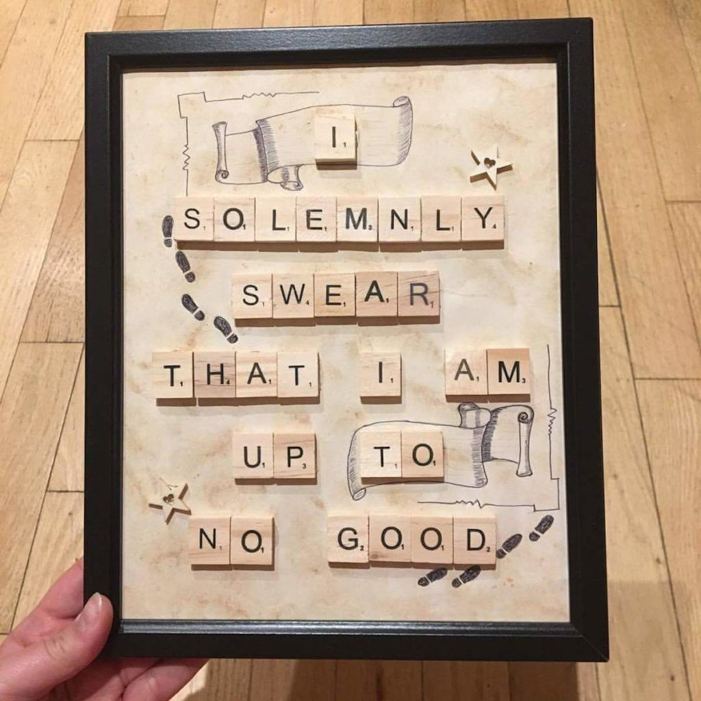 diy scrable do it yourself bois cadre original cadeau fait main - blog déco - clem around the corner