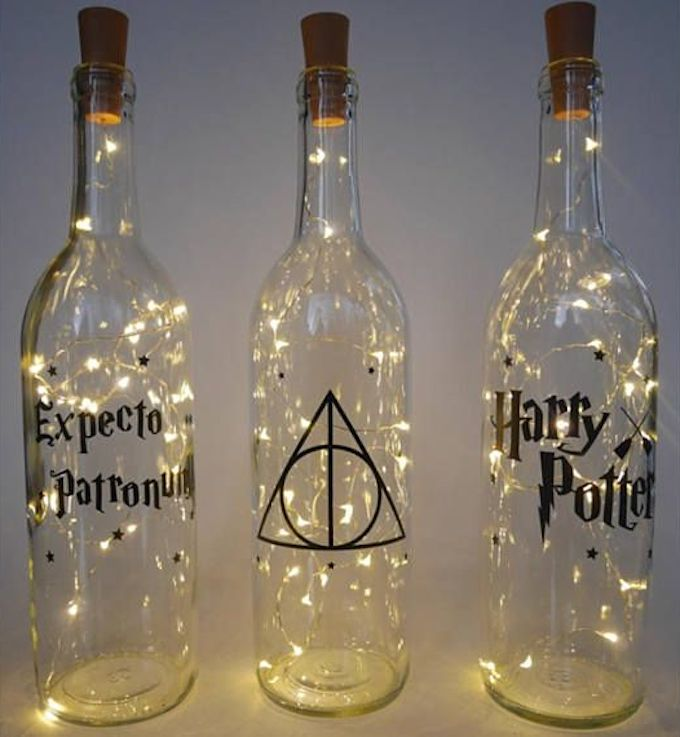 déco harry potter bouteille lumineuse guirlande diy do it yourself - blog déco - clem around the corner