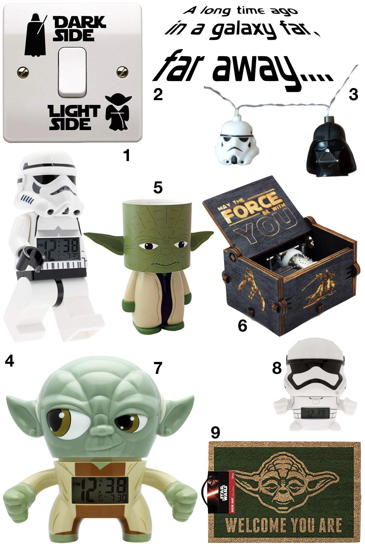 anniversaire thème star wars idée cadeau drôle yoda storm trooper dark vador - blog déco - clem around the corner