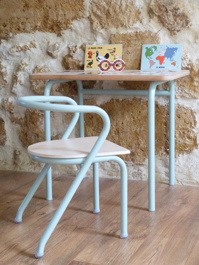 bureau écolier relooké jacques hitier mobilier éco enfant chambre kids bébé - blog déco - clem around the corner