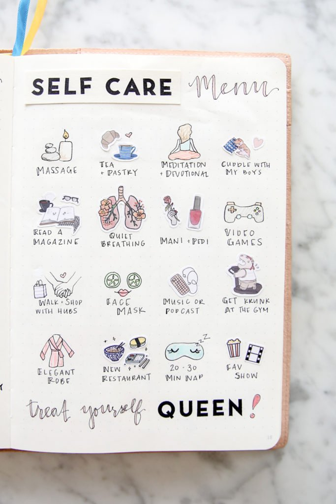 comment faire un bullet journal bujo bullet journal self care tracker list page idée collection - blog déco - clem around the corneret journal self care tracker list page idée collection