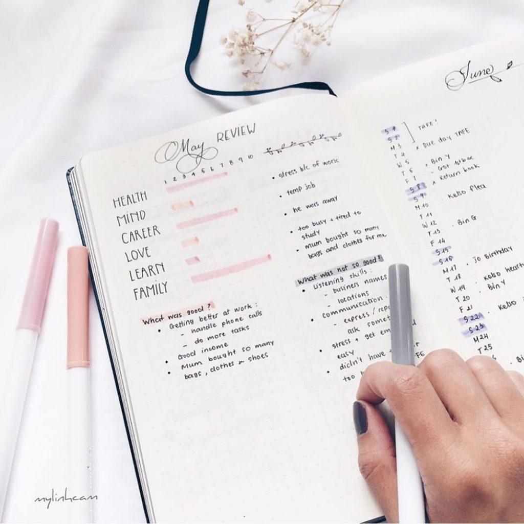 comment faire un bullet journal idée stylo noir organisation - blog déco diy