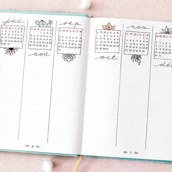 comment faire un bullet journal bujo organisation tracker planner planning carnet to do list diy tuto - blog déco - clem around the corner