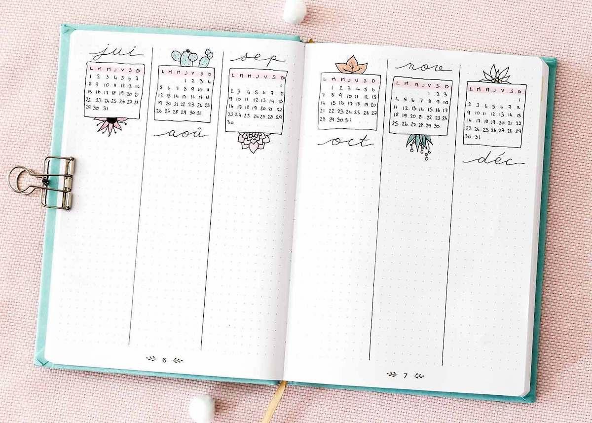 comment faire un bullet journal bujo organisation tracker planner planning carnet to do list diy tuto - blog déco - clem around the corner