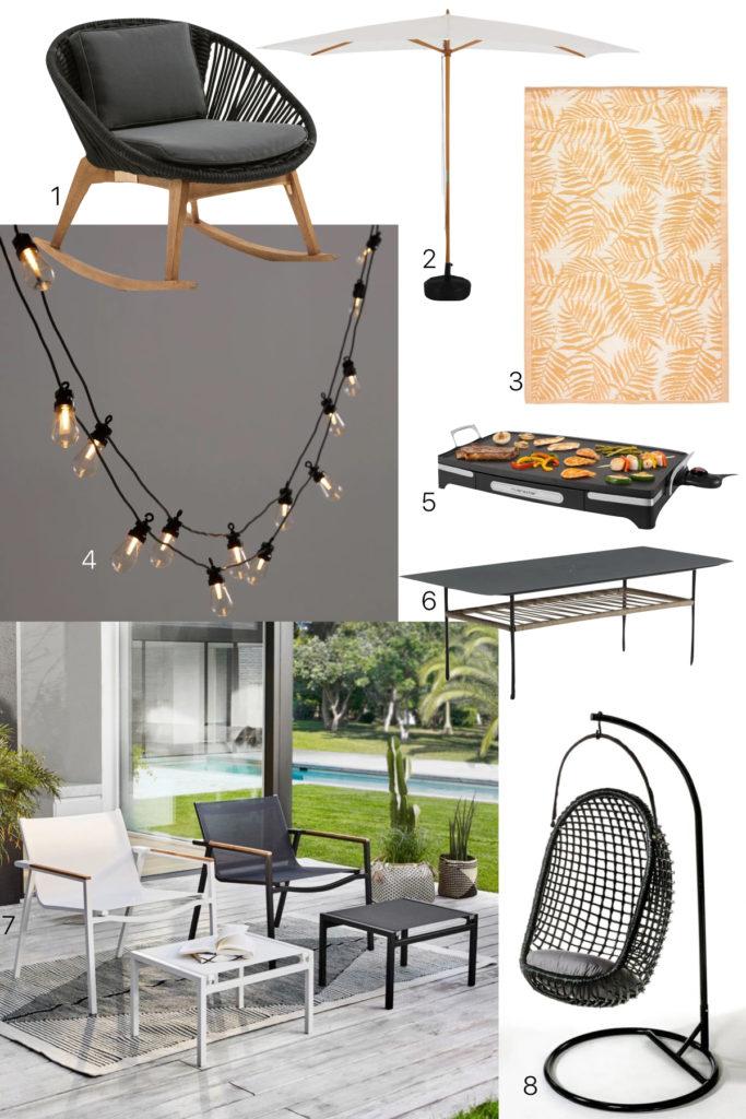 meuble terrasse pas cher tapis palmier jardin design cosy moderne - clematc.001
