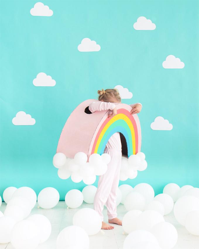 joli déguisement diy pour fille ou garçon do it yourself création carton ballons