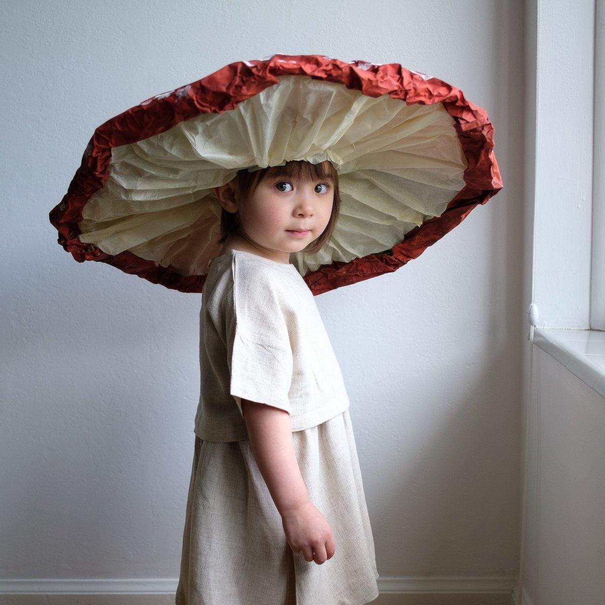 costume original pour enfant champignon de la forêt idée - blog déco - clem around the corner