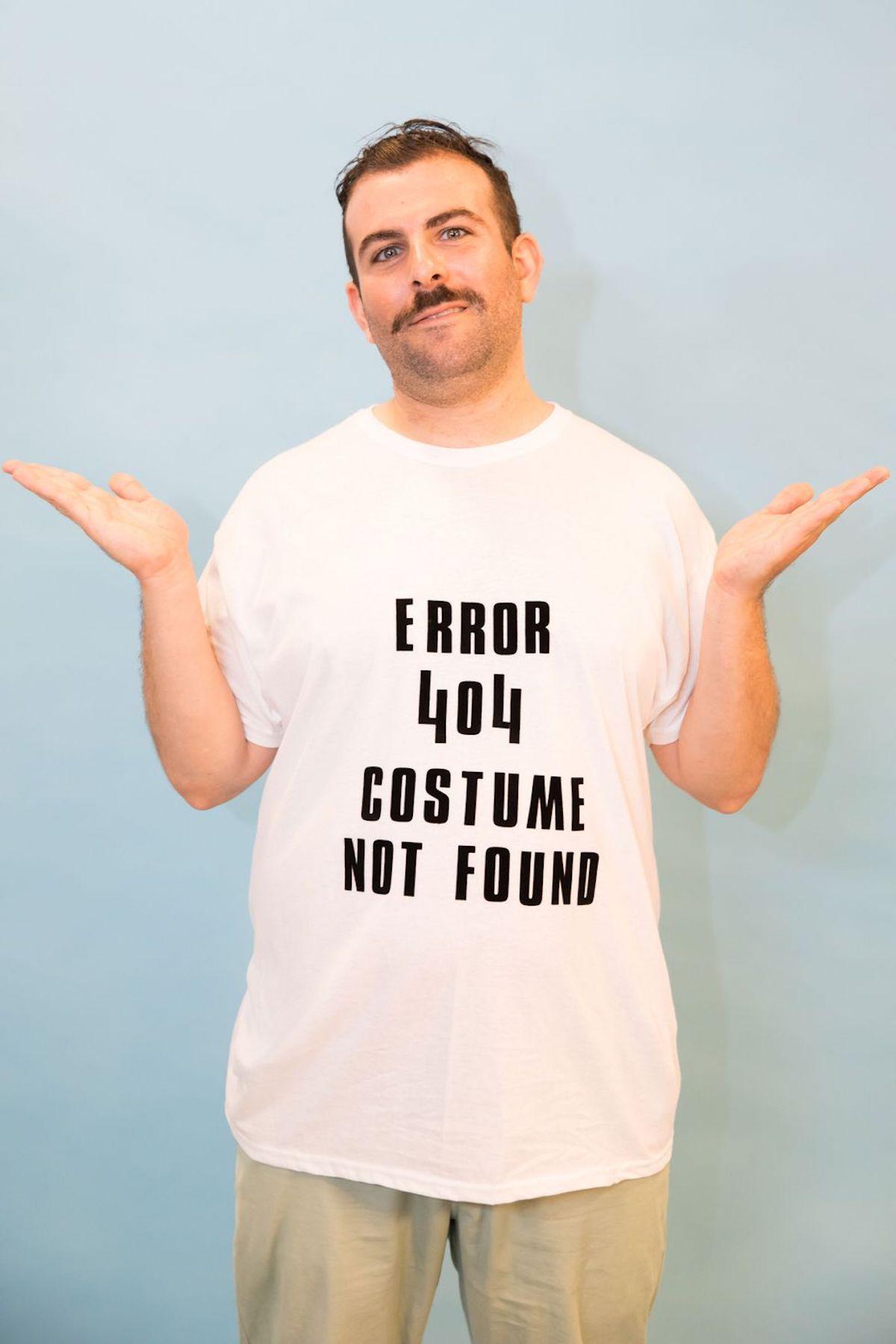 déguisement diy idée simple costume diy tee-shirt blanc erreur 404