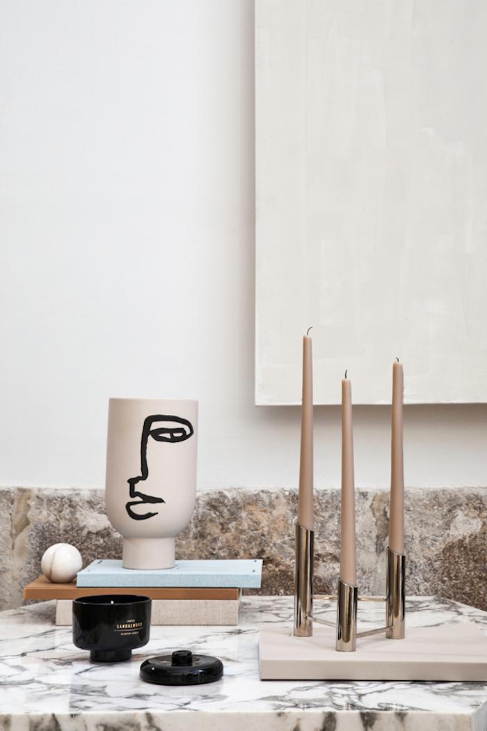 motif visage décoration vase artsy marbre - blog déco - clem around the corner