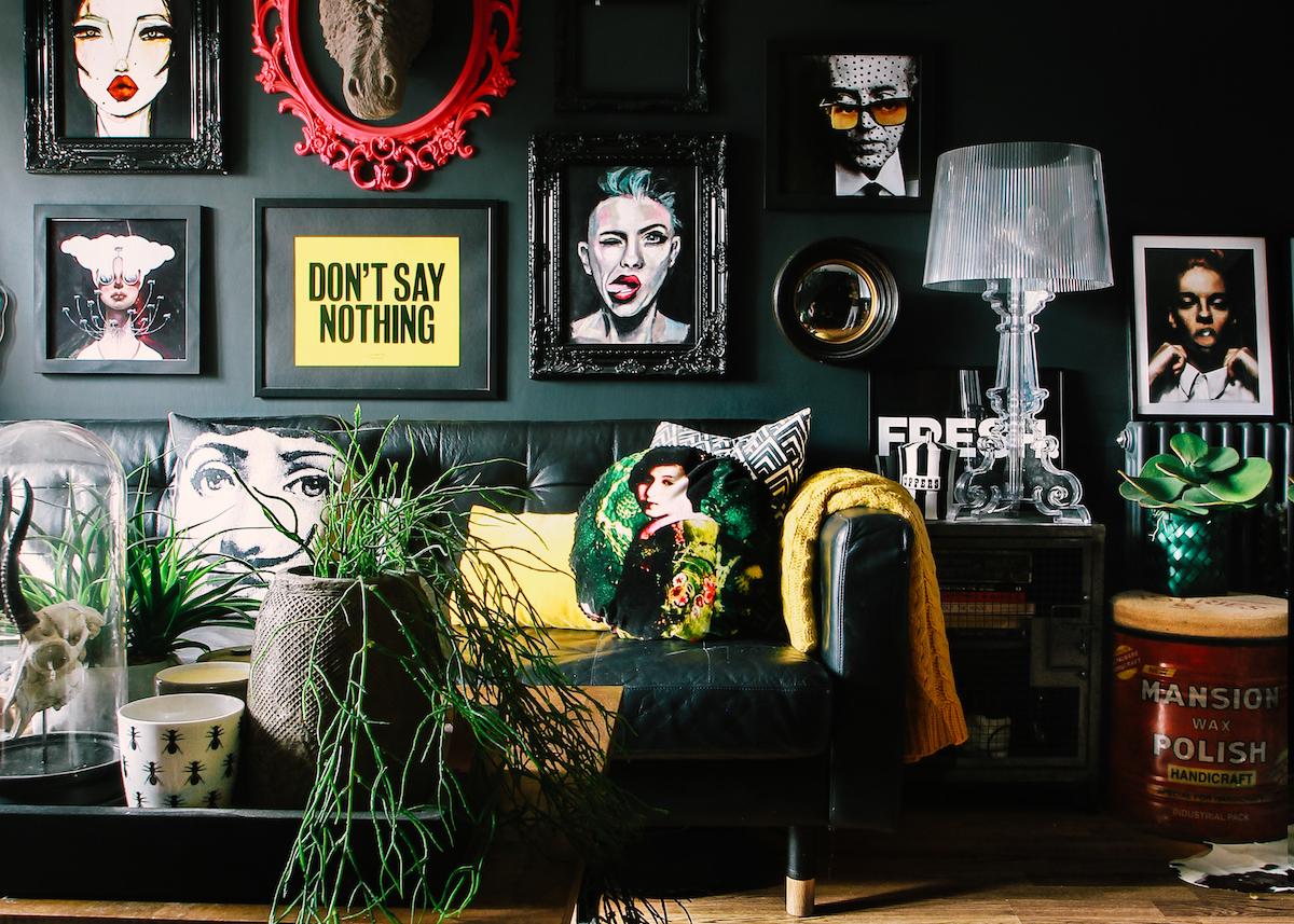 Idée Déco Appartement Jeune appartement noir maximaliste - blog déco - clem around the