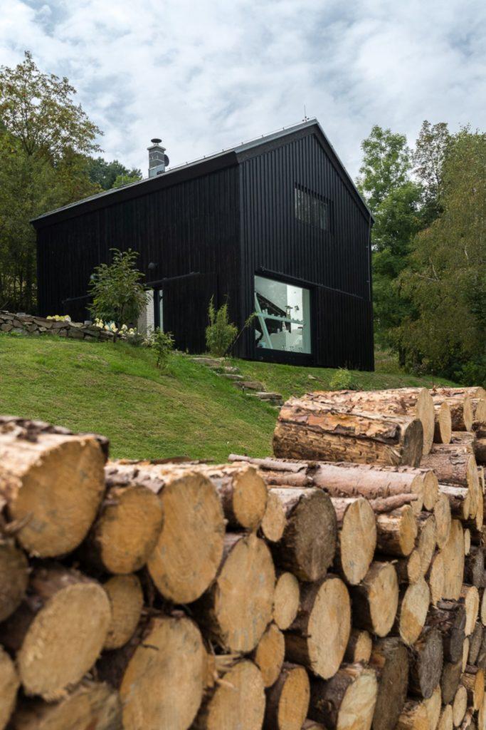 grange rénovée aménagement loft république tchèque montagne chalet