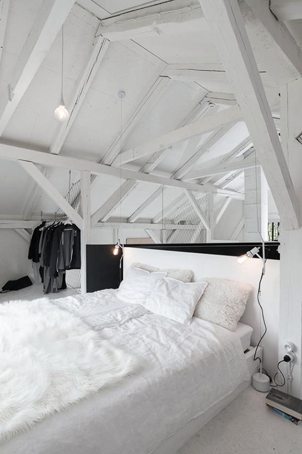 chambre blanche aménagement comble aménagés suite parentale blog décoration intérieure clem around the corner