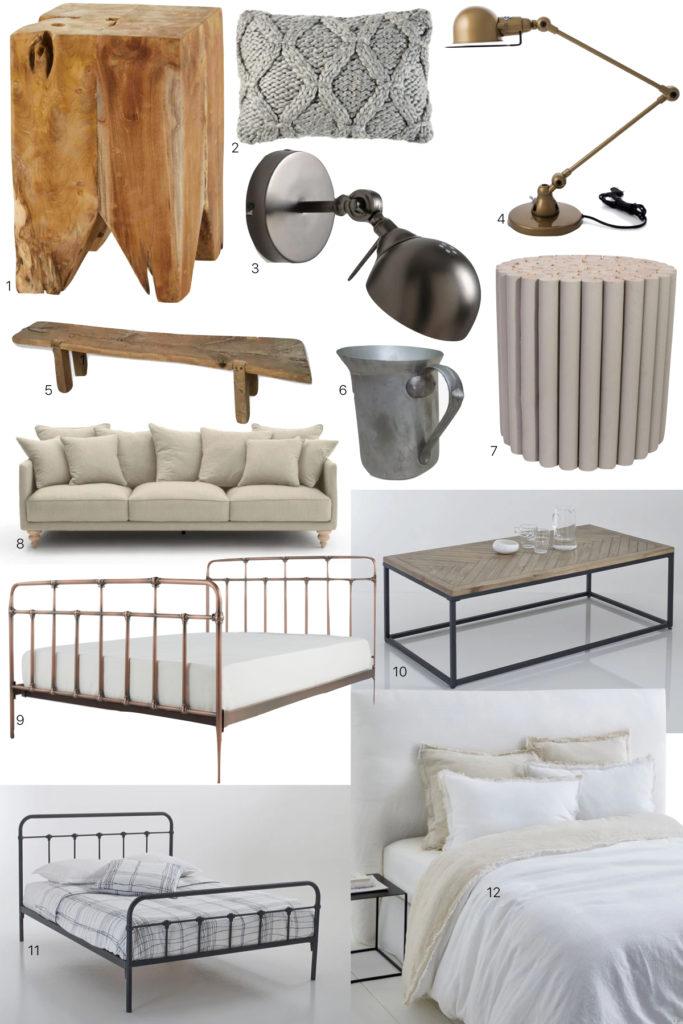 décoration intérieur mélange rustique moderne vintage industriel - blog déco - clem around the corner