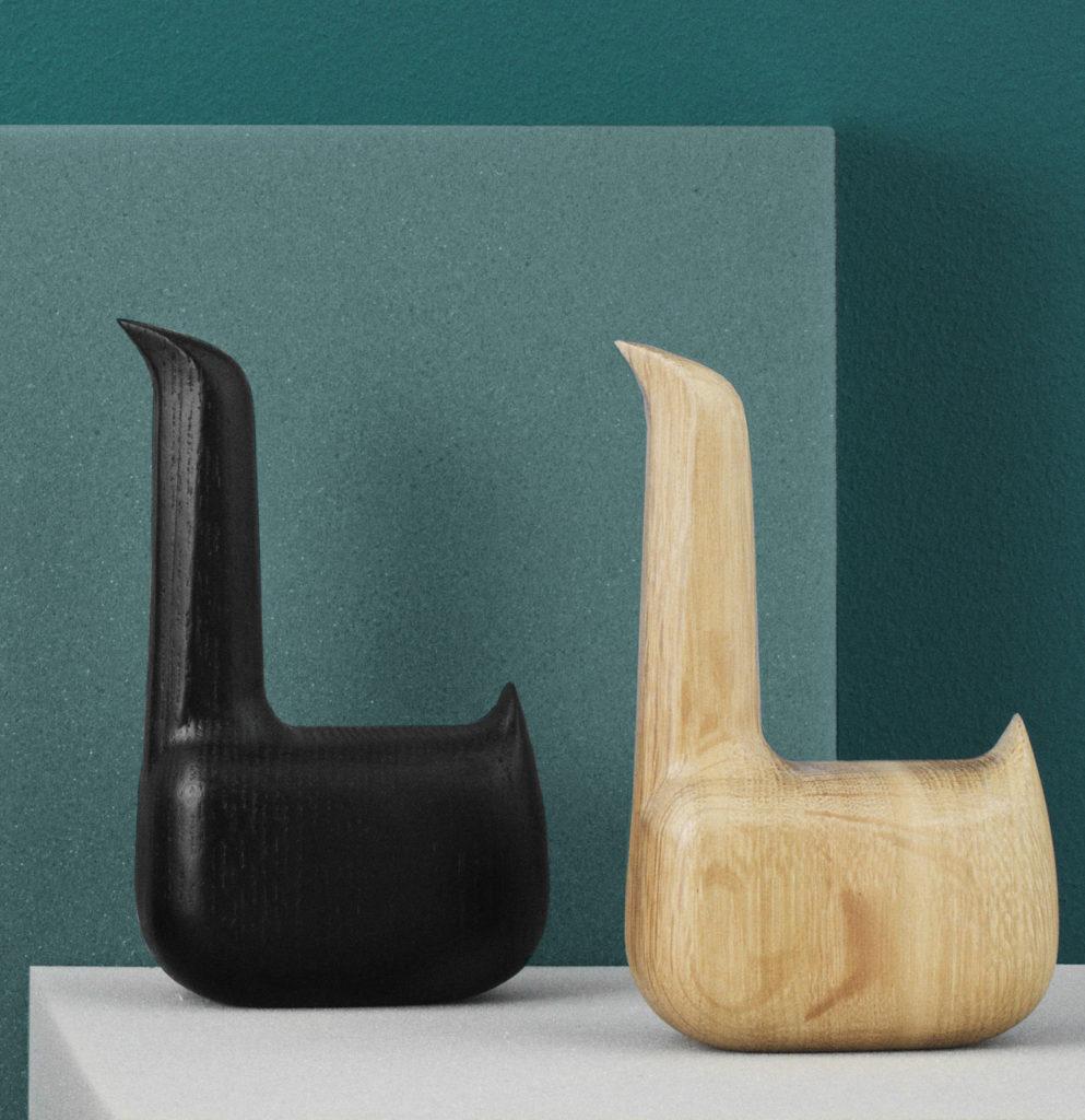 cygne en bois statuette pas chère decoration noire Swan Everything Elevated Normann Copenhagen