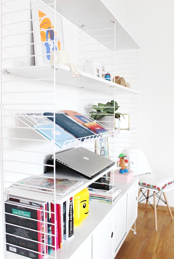 bibliothèque modulable blanche bois filaire métallique design - blog déco - clem around the corner