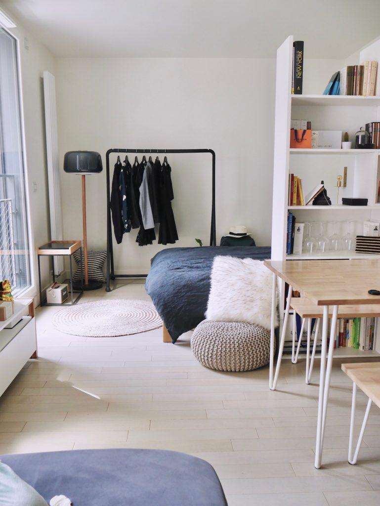 comment meubler séparer deux espaces studio bien agencé paris - blog déco clem around the corner