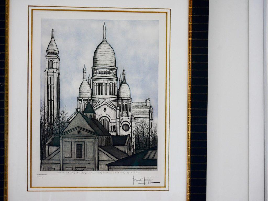 lithographie Bernard Buffet dessin crayon fusin Sacre Coeur Montmartre