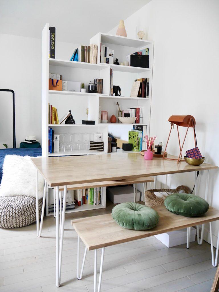 séparation lit salle à manger studio bien agencé meublé malin étudiant conseil