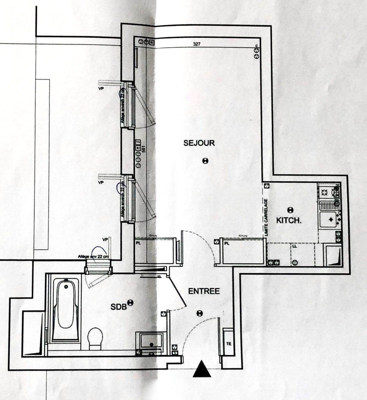 plan appartement studio pris 25m2 cogedim impasse marie blanche clematc