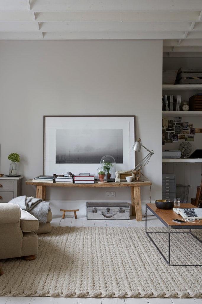 salon beige mur décoration cosy chic style campagne