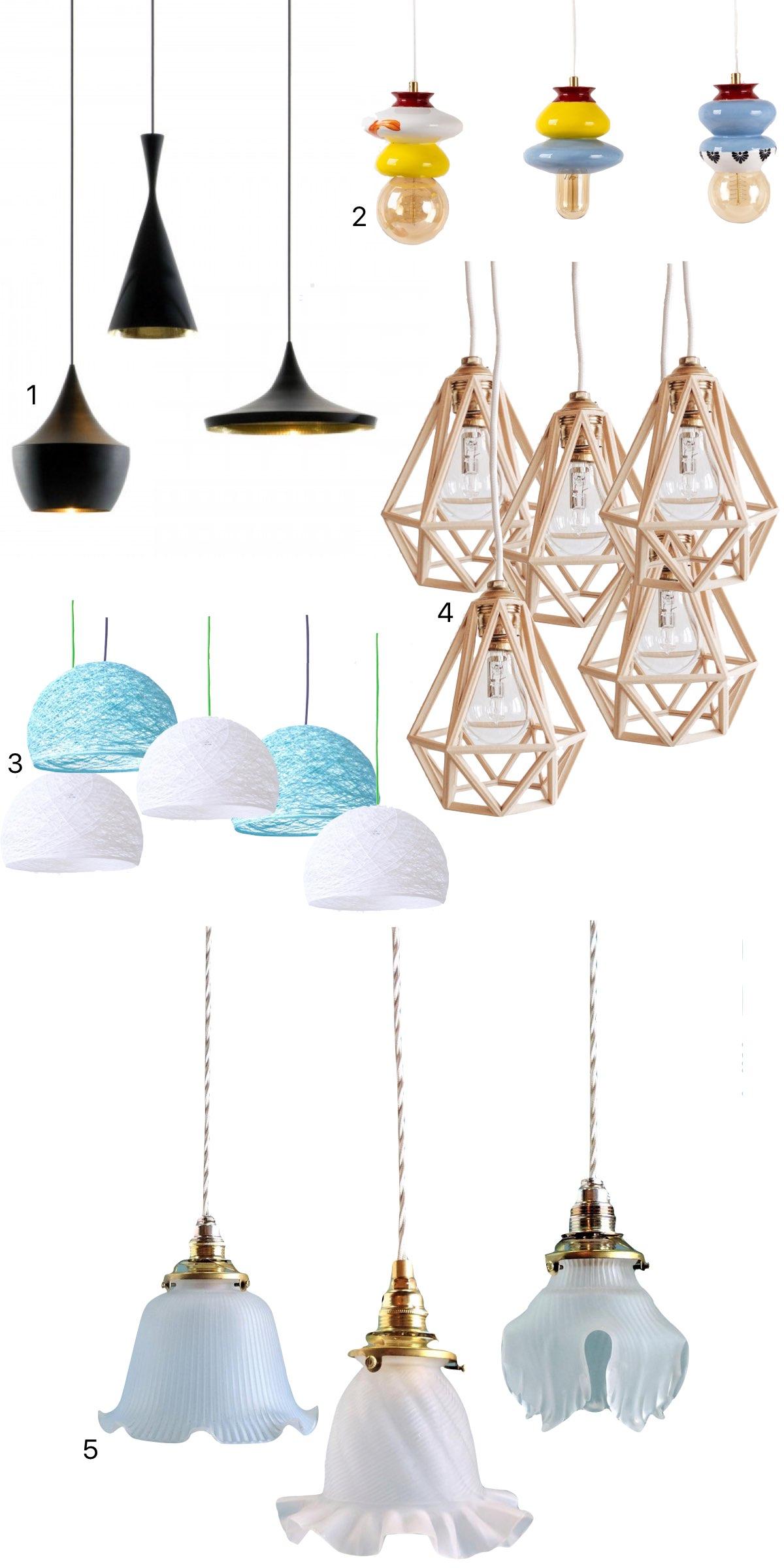 comment créer luminaire suspension multiple lampe - blog décoration intérieure - clem around the corner