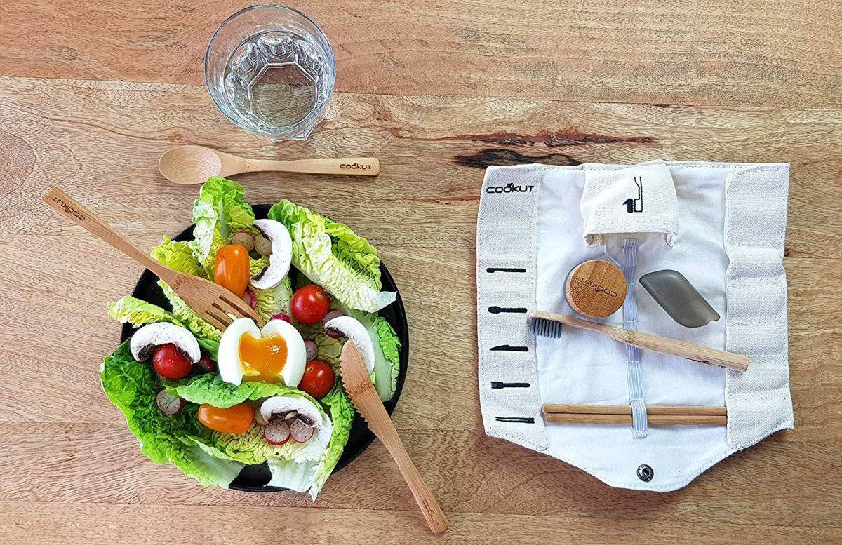 kit repas couvert bambou pique-nique brosse dent - blog clemaroundthecorner