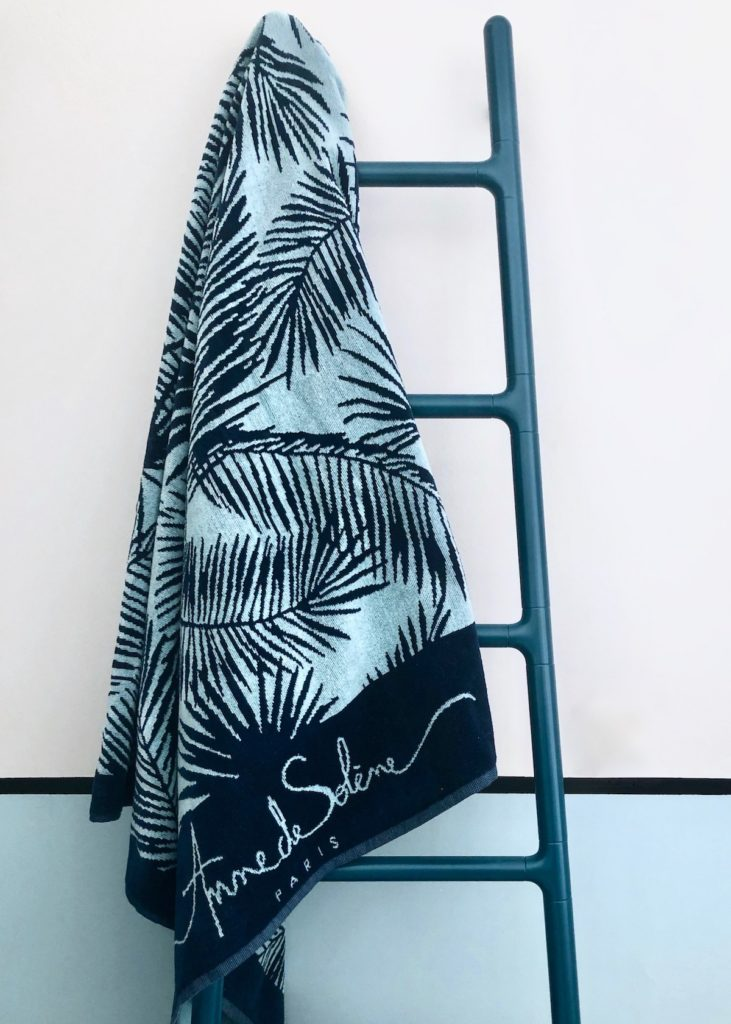drap de plage serviette anne de solène palmier rentrée slow living