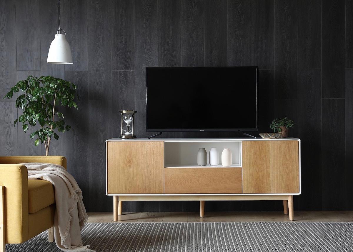 Salon Noir Blanc Jaune 5 conseils pour aménager son coin tv - clem around the corner