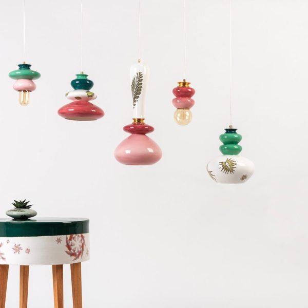 décoration tendance de l'accumulation luminaire suspension porcelaine fait main - blog déco - clem around the corner