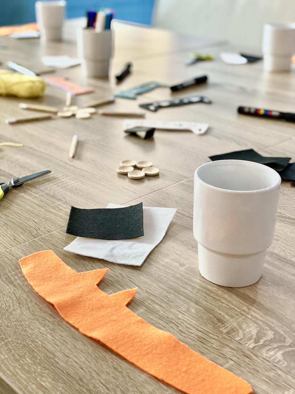 matériel nécessaire personnalisation mug cosy animal renard