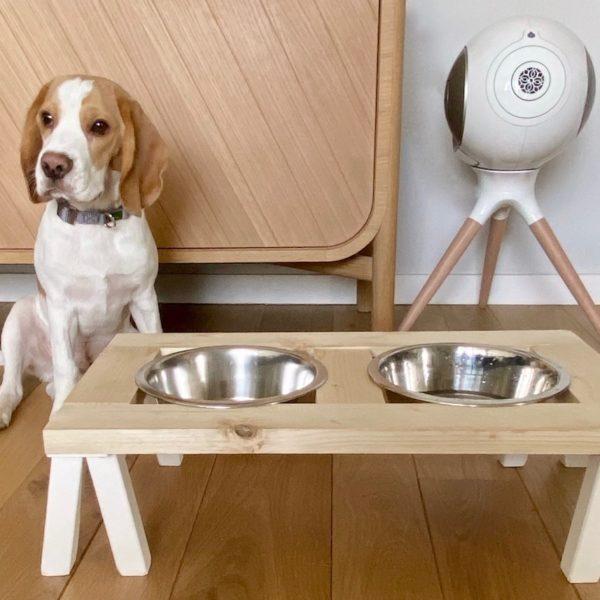 comment fabriquer porte gamelle pour chien diy bois inox - blog déco - clem around the corner