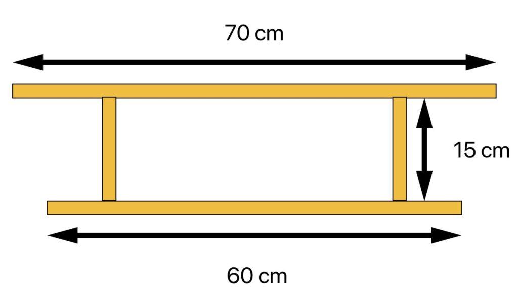 schéma découpe comment fabriquer une étagère avion DIY en bois clem around the corner