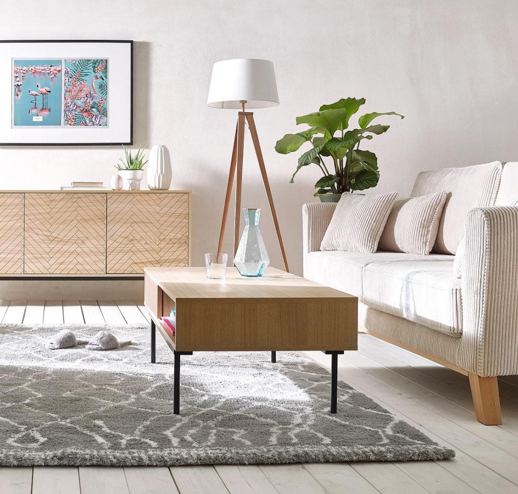 comment sélectionner meuble salon assise droit velours cotelé blanc beige scandinave