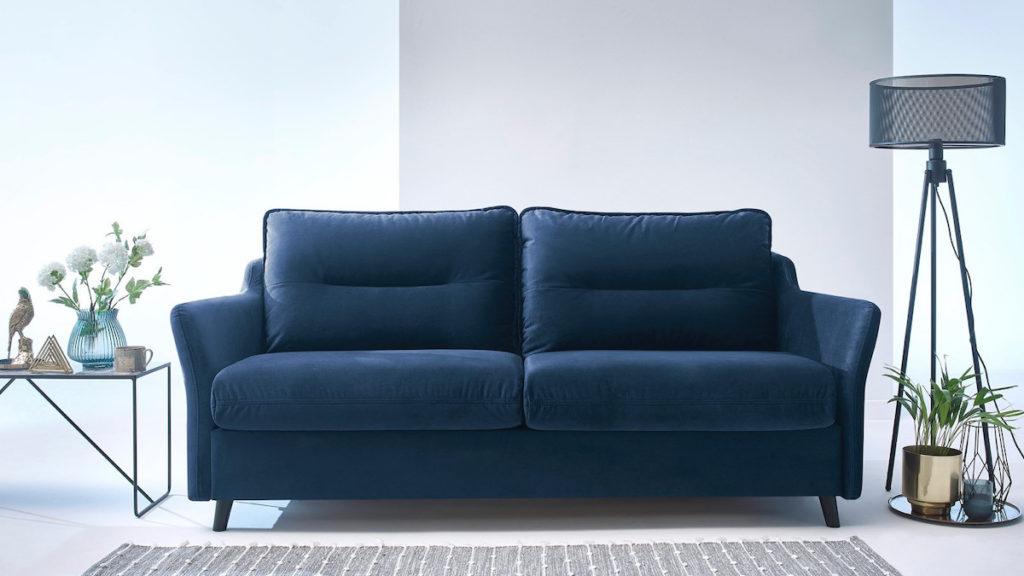 comment choisir son canapé droit lit ouverture express couchage quotidien velours bleu nuit