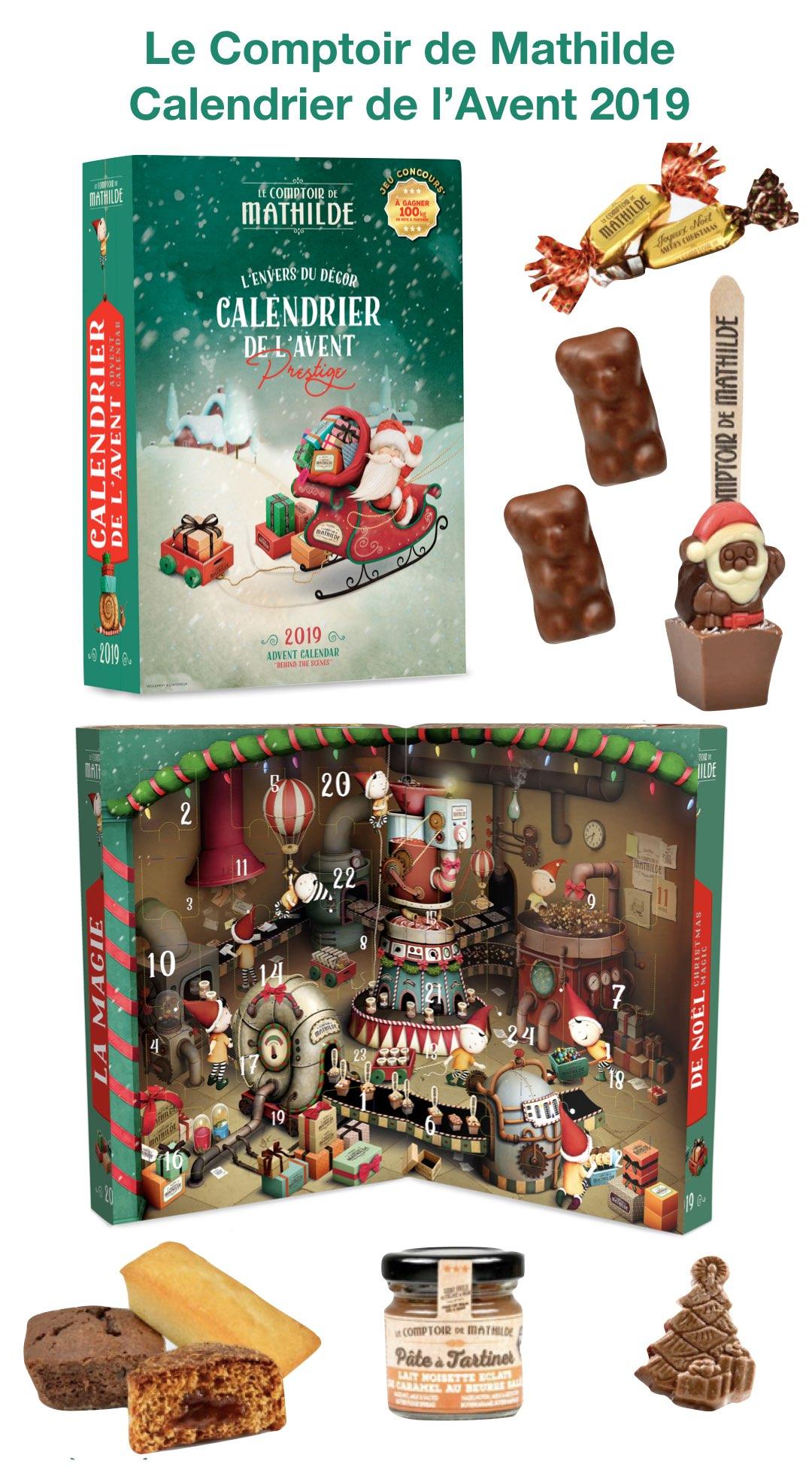 comptoir de mathilde calendrier avent 2019 gourmandise chocolat adulte cadeau ado pate a tartiner avis