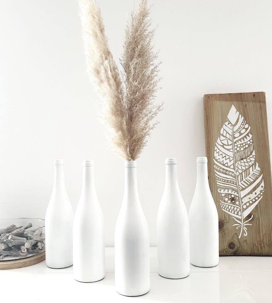 bouteille blanche déco maison personnalisable inspiration hygge
