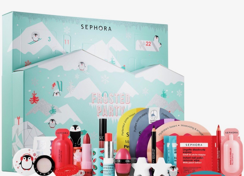 calendrier avent 2019 femme comparatif test contenu sephora frosted party winter