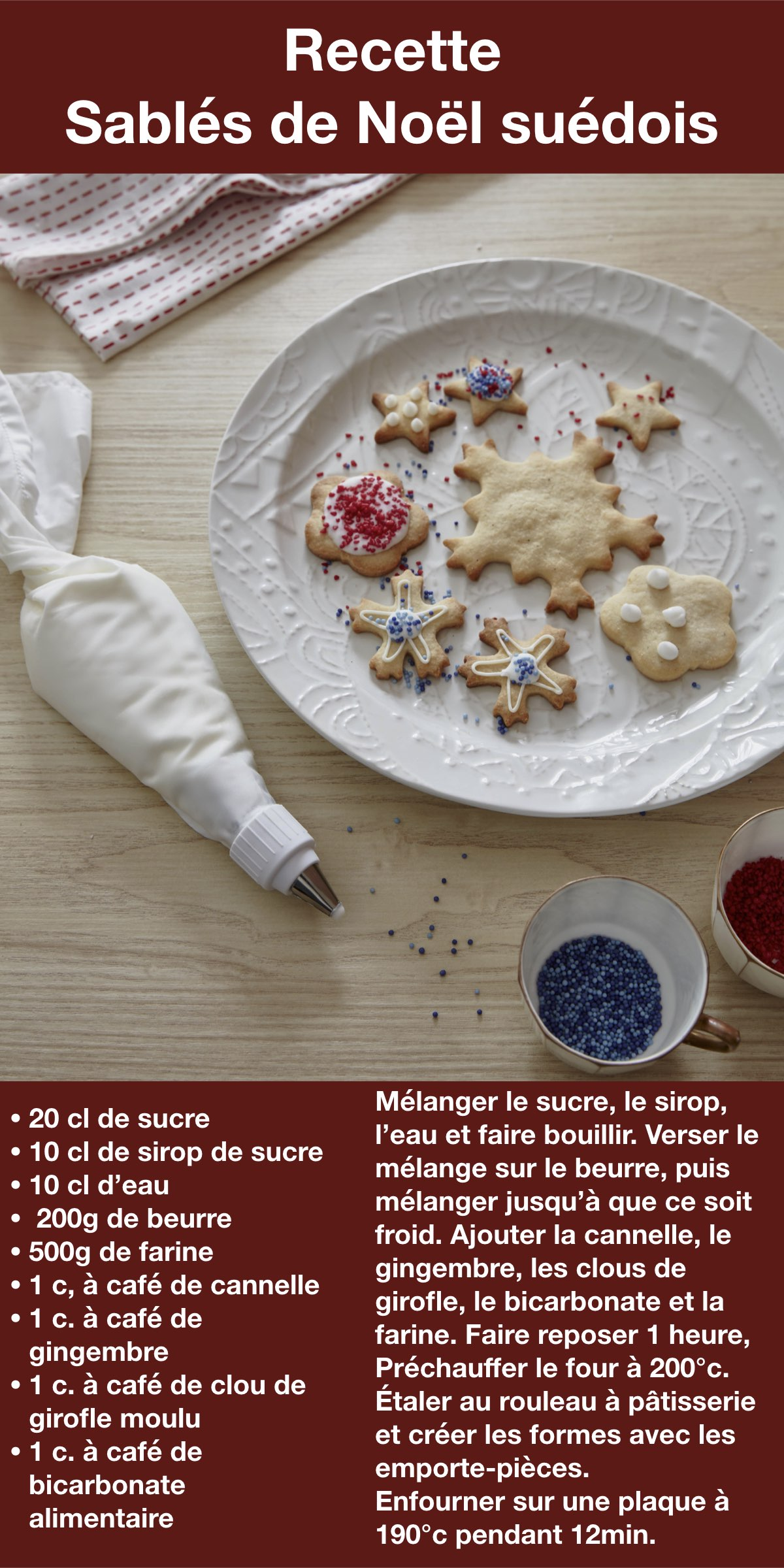 recette sablé suédois Noël cannelle gingembre ikea cuisine biscuit